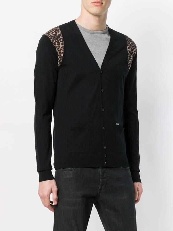 DSQUARED2 leopard insert cardigan