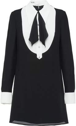 Miu Miu georgette mini shirt dress