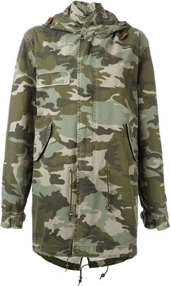 Mr & Mrs Italy camouflage print parka