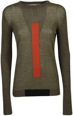 Rick Owens Colourblock Graphic Sweater