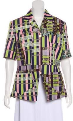 Christian Lacroix Bazar de Jacquard Short Sleeve Jacket