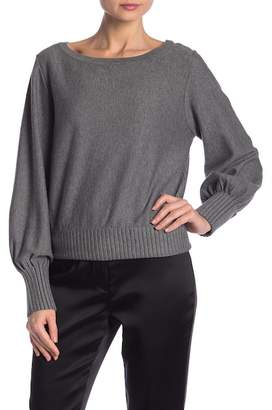 Milly Couture Wide Ribbed Pullover