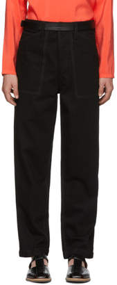 Lemaire Black Summer Chino Trousers