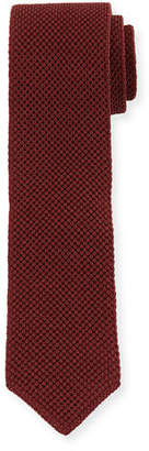 Brunello Cucinelli Solid Silk Knit Tie