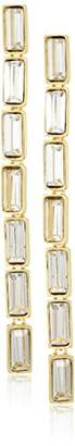 Kenneth Jay Lane Gold Baguette Drop Earrings
