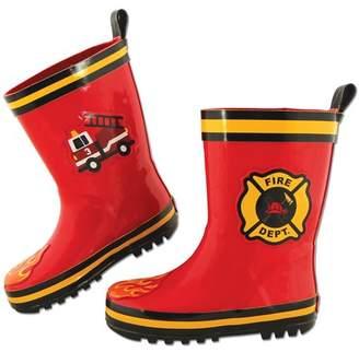 Stephen Joseph All Over Print Firetruck Rain Boot