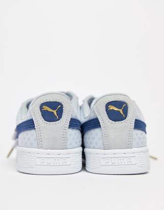 Puma Basket Heart Denim Sneaker in blue
