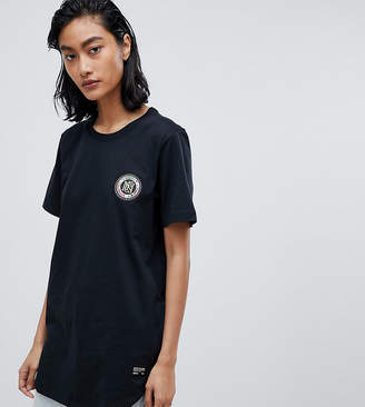 Nike F.C. Flag Crest T-Shirt With Back Print In Black