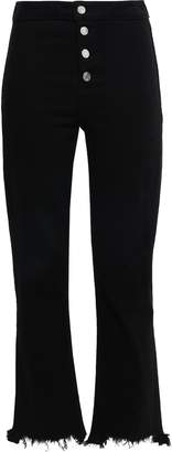 RtA Cropped Frayed High-rise Slim-leg Jeans
