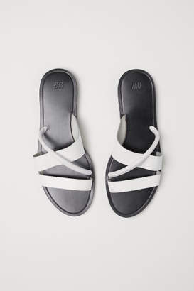 H&M Leather Sandals - White
