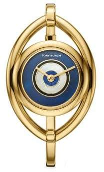 Tory Burch Evil Eye Bangle Stainless Steel Bracelet Watch