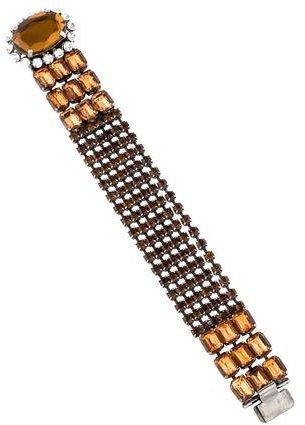 Miu MiuMiu Miu Crystal Link Bracelet