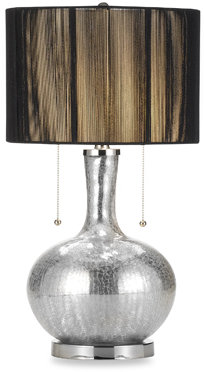 Croscill Crackle Glass Mercury Table Lamp