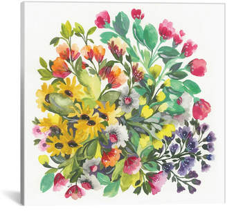 """iCanvas Wildflowers"""" By Kim Parker Gallery-Wrapped Canvas Print - 26"""" x 26"""" x 0.75"""""""