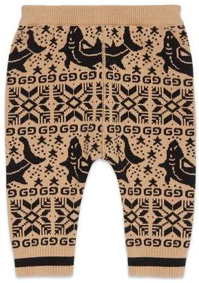 Gucci Baby sharks jacquard cotton legging