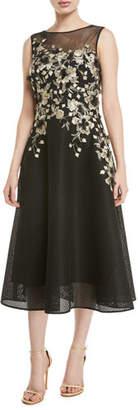 Rickie Freeman For Teri Jon Sleeveless Embroidered Dance Dress