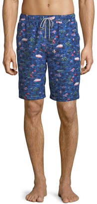 Peter Millar Men's Hawaiian Express Swim Trunks