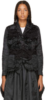 Comme des Garcons Black Quilted B-Pattern Jacket