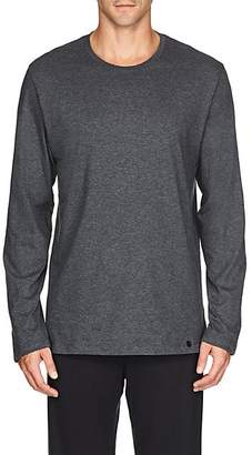 Hanro Men's Night & Day Cotton Long-Sleeve T-Shirt - Gray