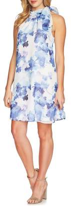Cynthia Steffe CeCe by Dreamy Floral Tie Neck Halter Dress