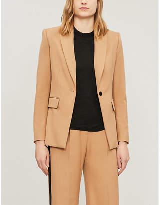 Maje Single-breasted woven-twill jacket