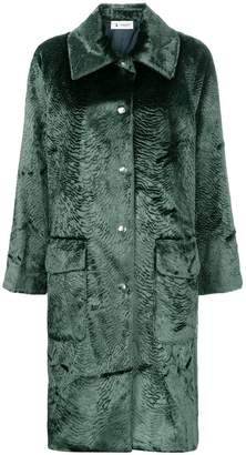 Barena velvet single breasted coat