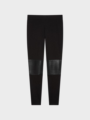 DKNY Pintuck Faux Leather Legging