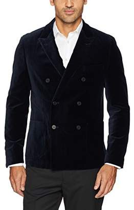 Michael Bastian Men's Stretch Velveteen Double Breasted Blazer