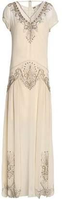 Haute Hippie Cutout Embellished Silk-Chiffon Gown