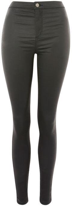TopshopTopshop Moto black coated joni jeans