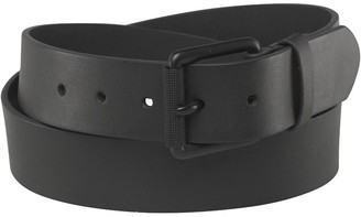 French Connection Mens Courtland Leather Belt Black