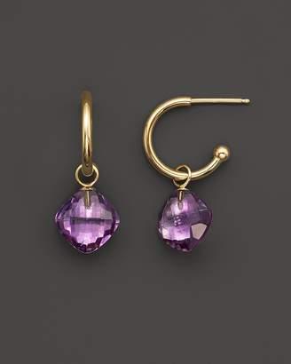 Bloomingdale's Amethyst Small Hoop Earrings in 14K Yellow Gold - 100% Exclusive