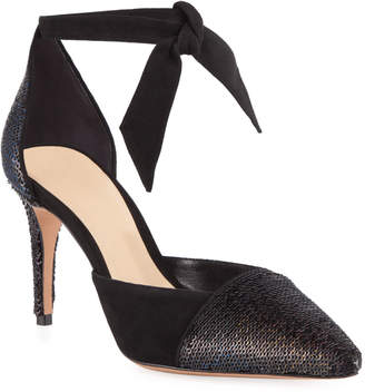 Alexandre Birman Clarita Suede Sequined Pumps