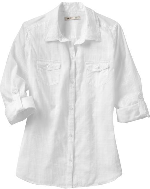 Women's Semi-Sheer Roll-Up Camp Shirts