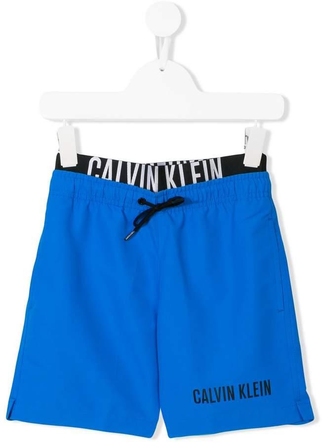 Calvin Klein Kids logo print shorts