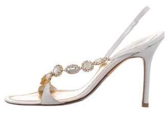 Rene Caovilla Jewel-Embellished Leather Sandals