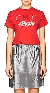 "Monogram Women's ""Chic Freak"" Cotton T-Shirt-Red"