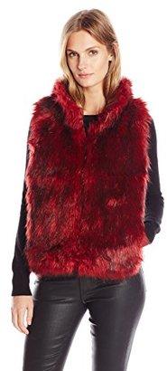 Buffalo David Bitton Women's Alaina Faux Fur Puffer Vest $148 thestylecure.com
