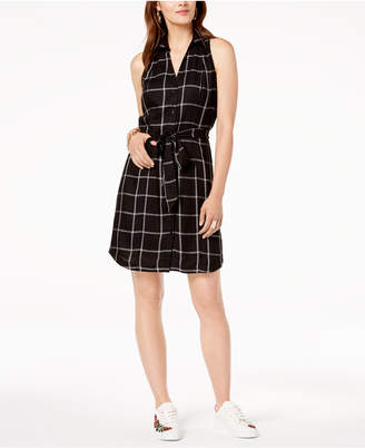 INC International Concepts I.N.C. Sleeveless Plaid Shirtdress, Created for Macy's