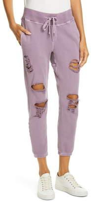 NSF Sayde Distressed Slouchy Sweatpants