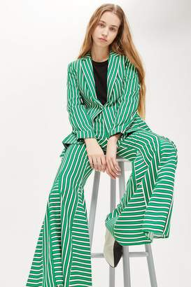 Topshop Striped Flare Trousers