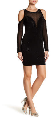Wow Couture Cold Shoulder Bedazzled Dress