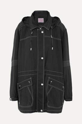 ALEXACHUNG Hooded Shell Jacket - Black
