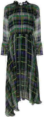 MSGM check asymmetric dress