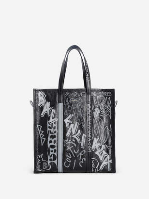 BLACK AND WHITE BAZAR SHOPPER BAG MEDIUM SIZE