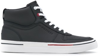 Tommy Hilfiger leather high tops