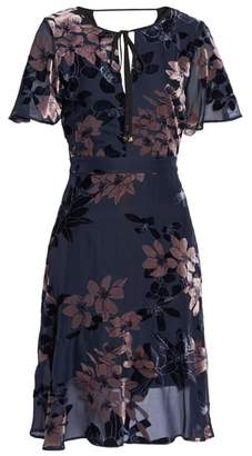Sam Edelman Burnout Floral Flare Hem Dress