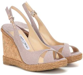 Jimmy Choo Amely 105 platform wedge sandals