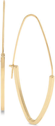BCBGMAXAZRIA Gold-Tone Marquise Hoop Earrings