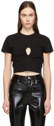Alexander Wang Black High Twist Keyhole Cropped T-Shirt